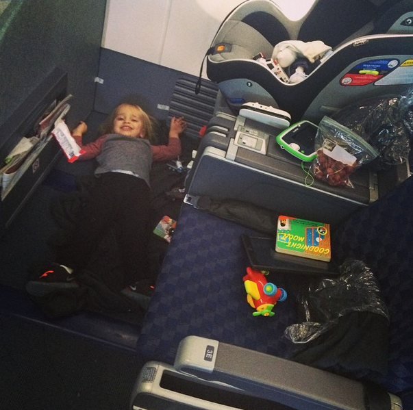Giuliana Rancics Car Seat On The Airplane