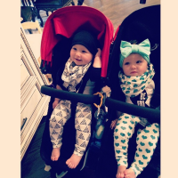 Kim Zolciak Double Stroller