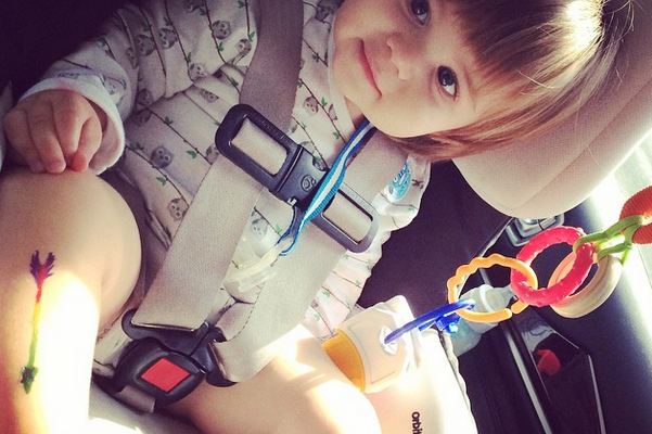 Jaime King's Son James In His Car Seat